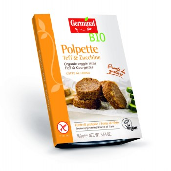 Image:  Organic veggie bites Teff & Courgettes