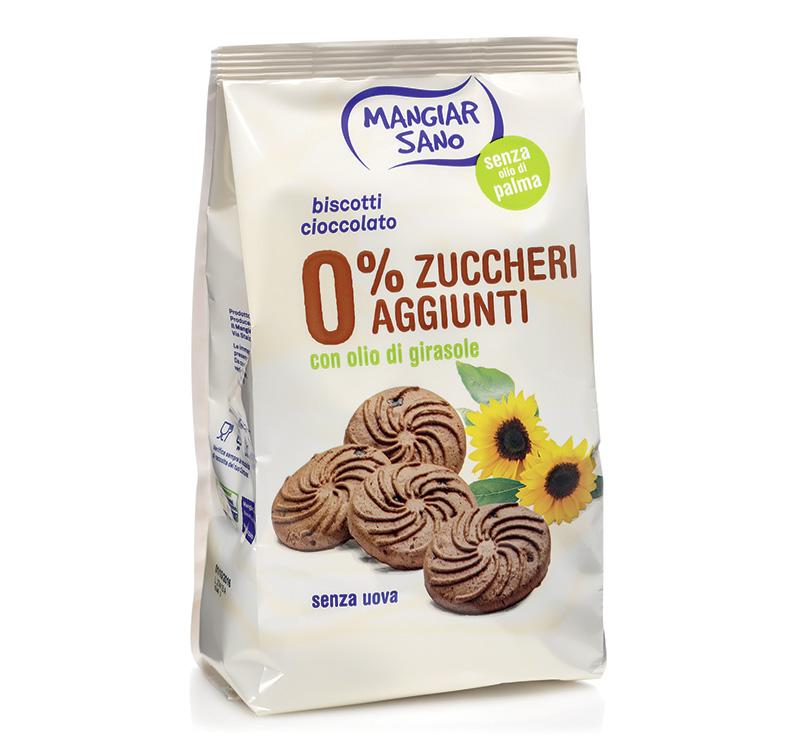 Immagine confezione Biscotti al cioccolato 0% zuccheri aggiunti Germinal Bio