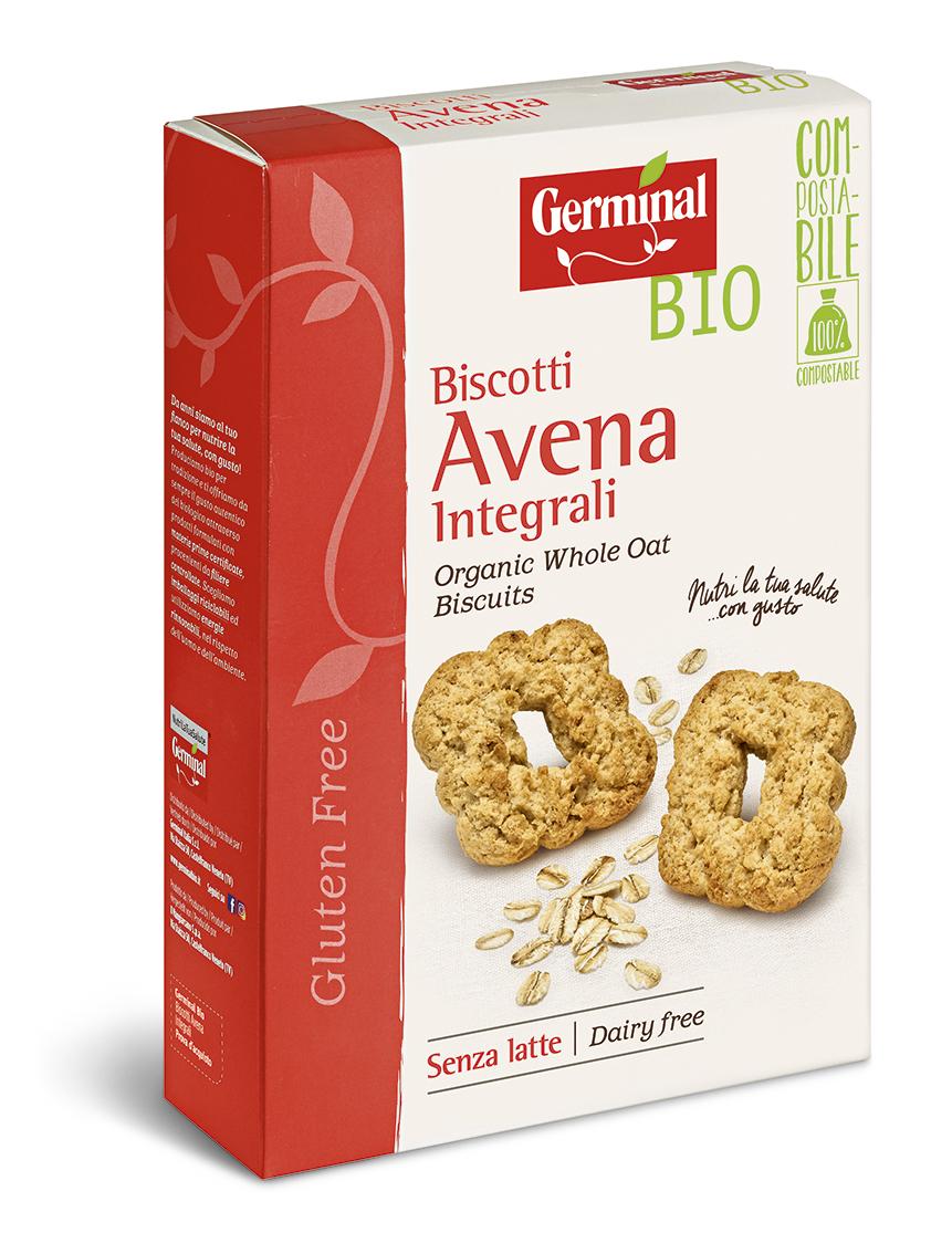 Immagine confezione Biscotti integrali Avena Senza Glutine Germinal Bio